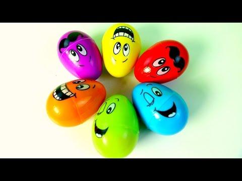 HUEVOS KINDER SORPRESA DE CARITAS| HAPPY FACE KINDER SURPRISE EGGS!!