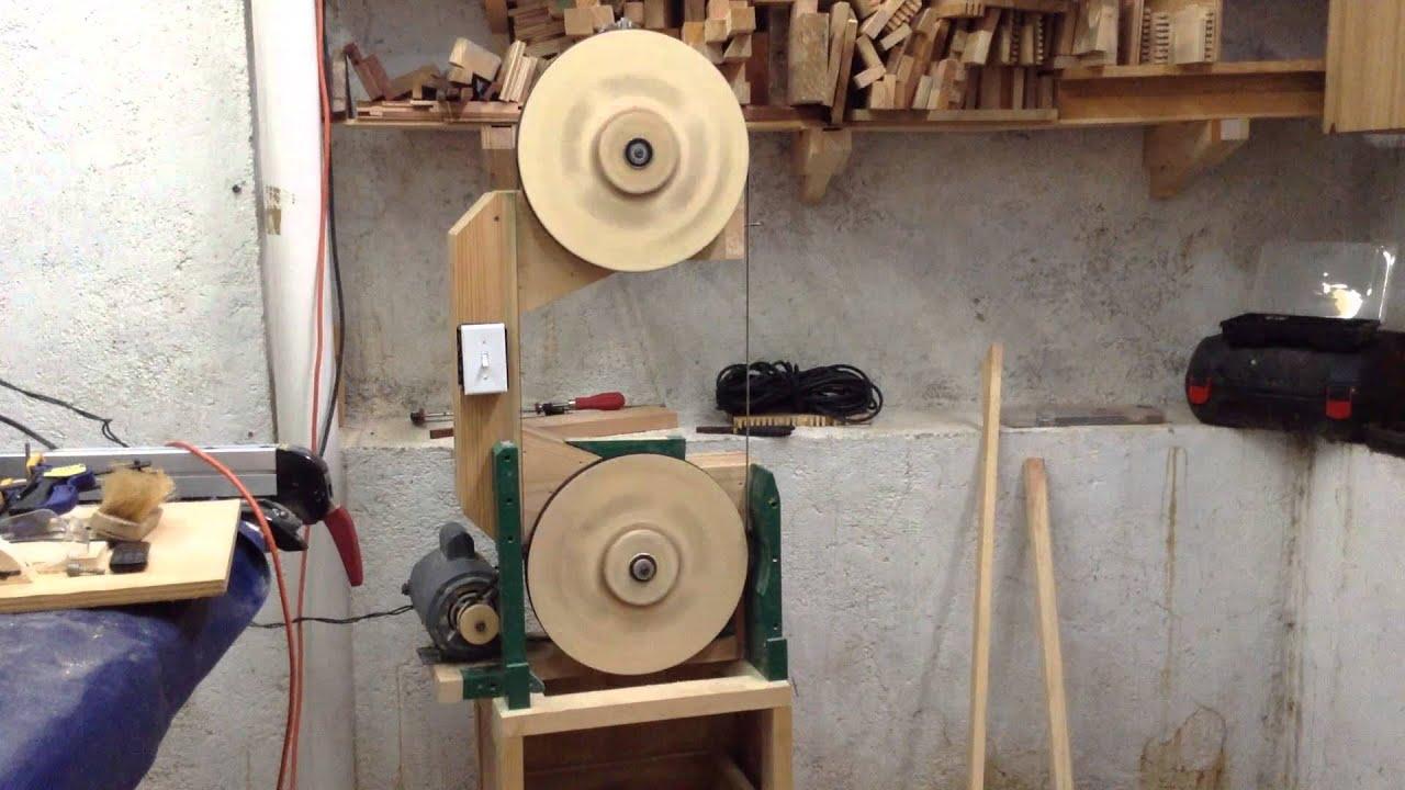 Sierra de cinta de madera primera prueba youtube - Sierra para cortar madera ...