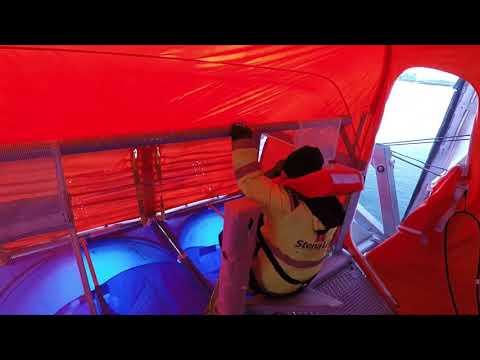 MES øvelse (Maritime Evacuation System) om bord