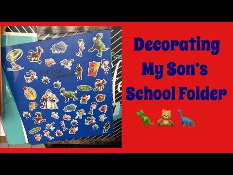 Decorating My Sons Folder For School 🧸🦖 #Toystory #Decorating #School #Momisbomb