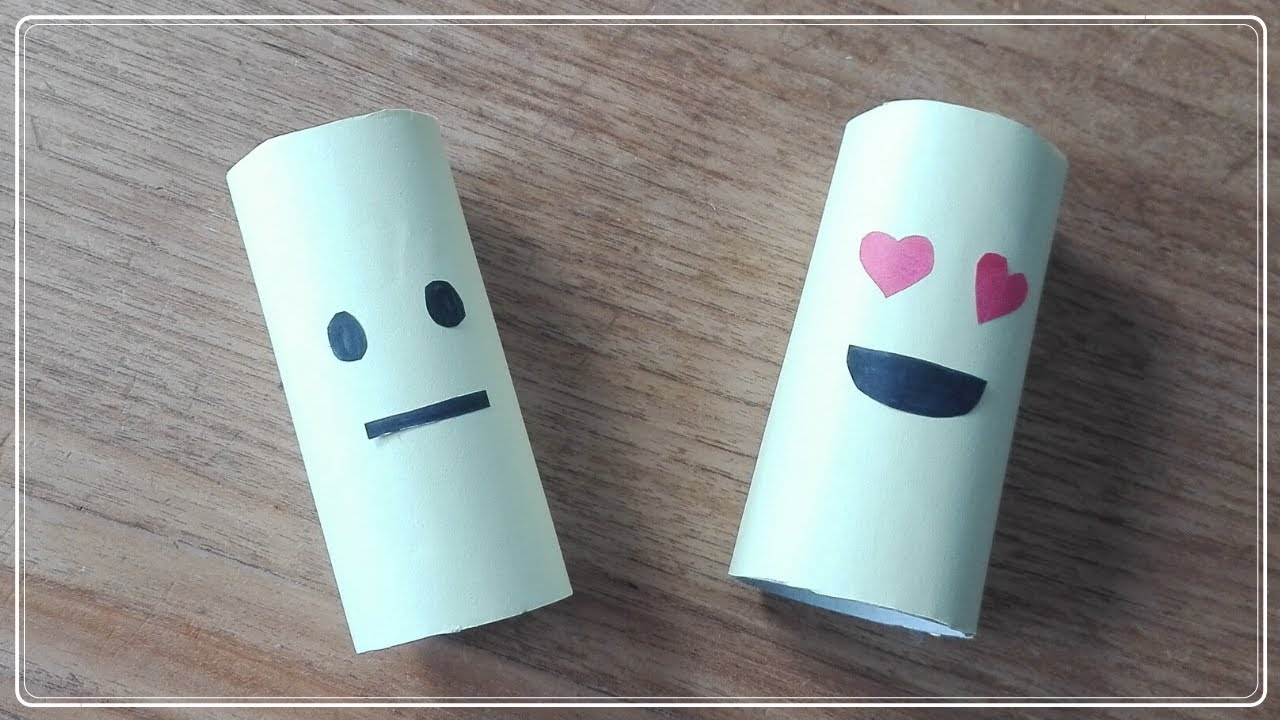 HOW TO: MAKE A EMOJI FROM A TOILET PAPER ROLL