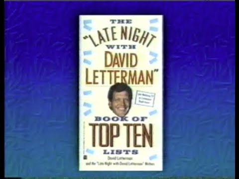 Promoting the 1st Top Ten Book on Late Night & Live at Five, October 9, 1990