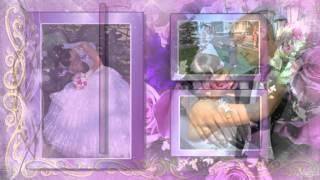 Фиолетовая свадьба Слайдшоу - Тимофей и Алиночка