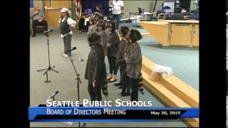 Lafayette Elementary at Seattle School Board May 20th, 2015