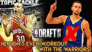 Steph Curry Didn't Work Out With Warriors- NBA Draft Stories