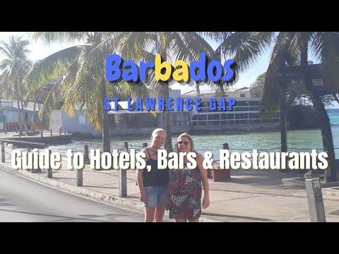 Best Bars Restaurants & Hotels In St Lawrence Gap. (Barbados 2020 Episode 6)