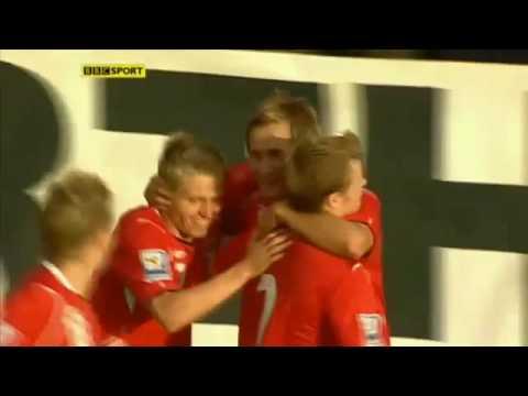 Pedersen's 1st Goal vs Scotland - 12.08.2009 WCQ. HQ
