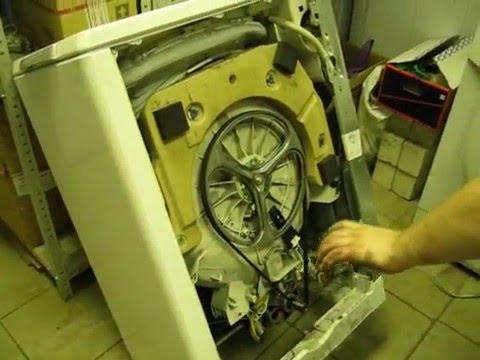 Стиральная машина не запускается, замена щёток в двигателе