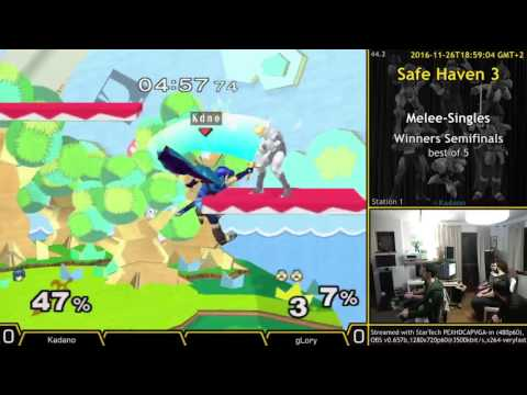 [SH3 2016-11-26] MS-WSF gLory (Sheik) vs Kadano (Marth)