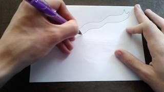 как поэтапно нарисовать ЛЕНТУ для начинающих и детей? How to DRAW BAND