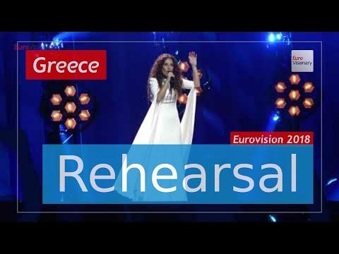 Yianna Terzi Oniro Mou - Eurovision 2018 Greece (Rehearsal)