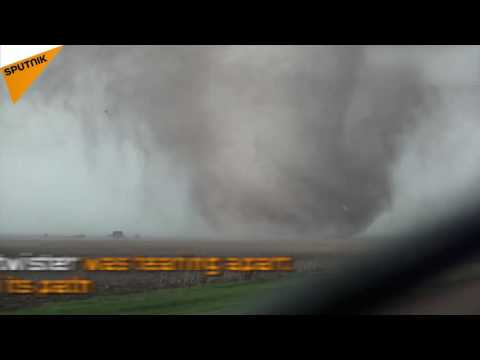 Violent Tornado Filmed Up Close in Rural Kansas