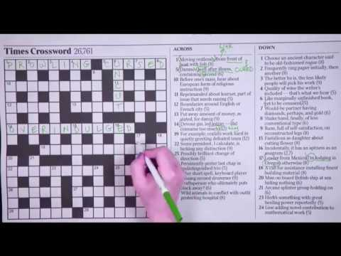 photograph about Cryptic Crosswords Printable called Beating the Periods of London Cryptic Crossword - The Fresh