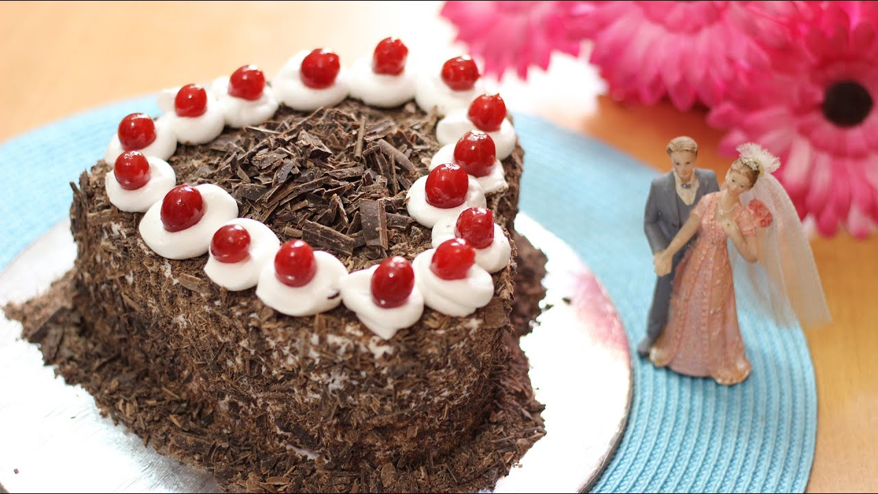 Elegant Valentineu0027s Day Black Forest Cake   Valentineu0027s Day Special   YouTube