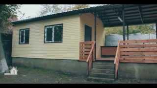 Быстрое строительство дачного дома 24м2 по каркасной технологии