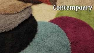 Envy Round Circular Shaggy machine made rugs in a large range of sizes and colours