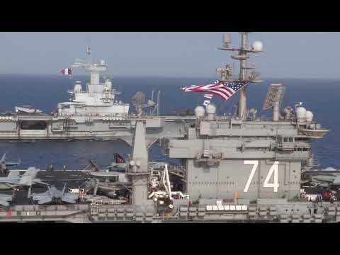 U.S. and French Navy Conduct Operations in the Red Sea