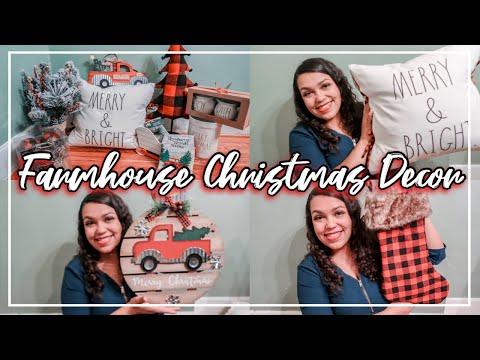 CHRISTMAS DECOR HAUL 2019 | HOBBY LOBBY, WALMART, MARSHALLS | FARMHOUSE  CHRISTMAS DECORATIONS