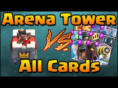 Clash Royale - All Cards Vs Arena Tower | Compilation And Comparison Of All Cards 1v1 Arena Tower