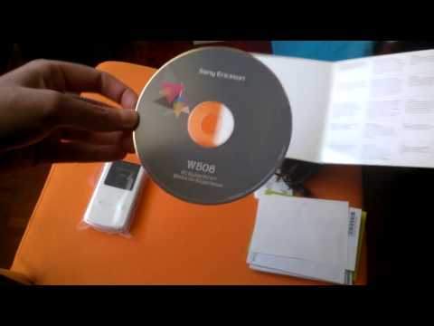 Sony Ericsson W508 - Unboxing