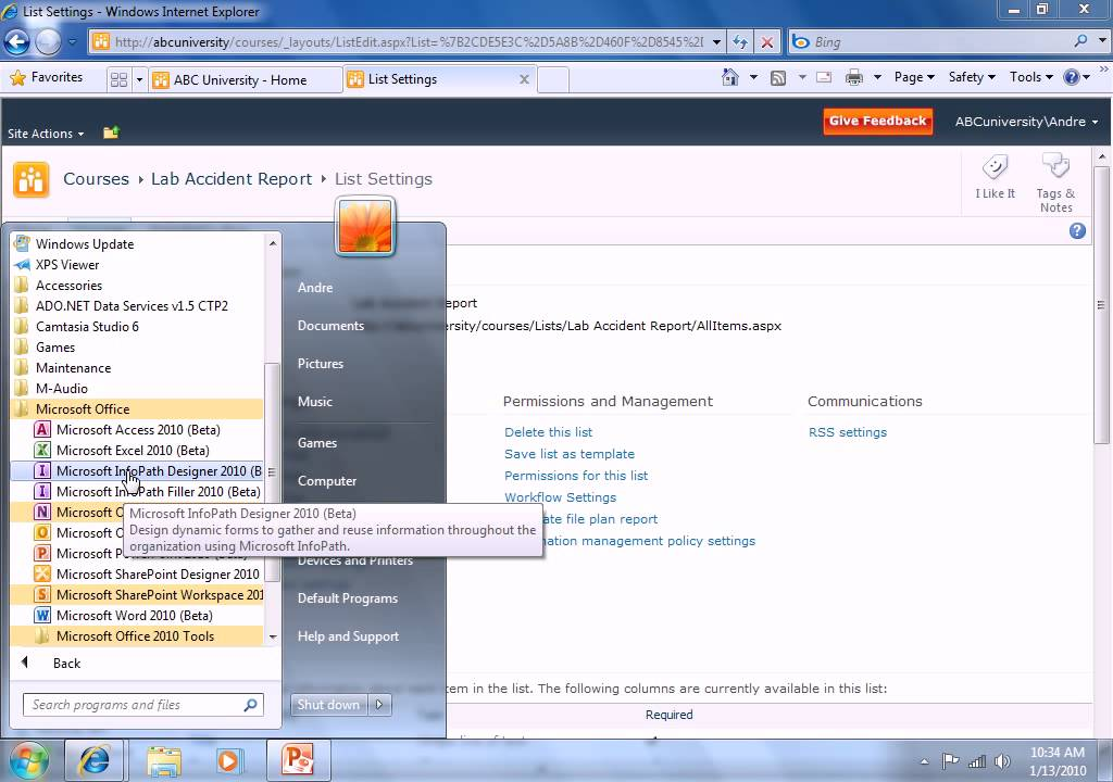 InfoPath 2010 Forms - External Data - SharePoint 2010