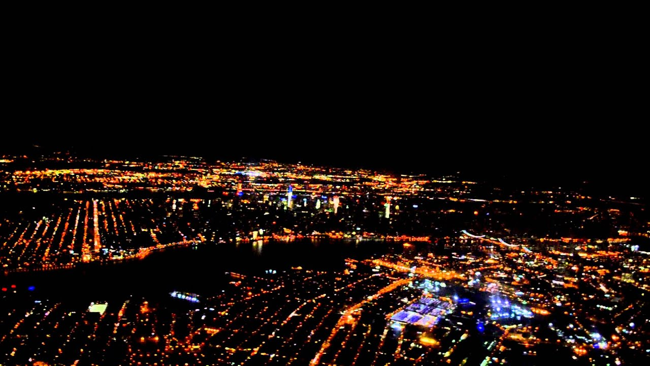 Flight Laguardia Airport Awesome View York City