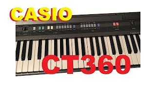 Casio CT-360 Demo/review ...soooo ancient...