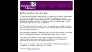 Audio of Dumfries and Galloway Council  - 18 December 2014