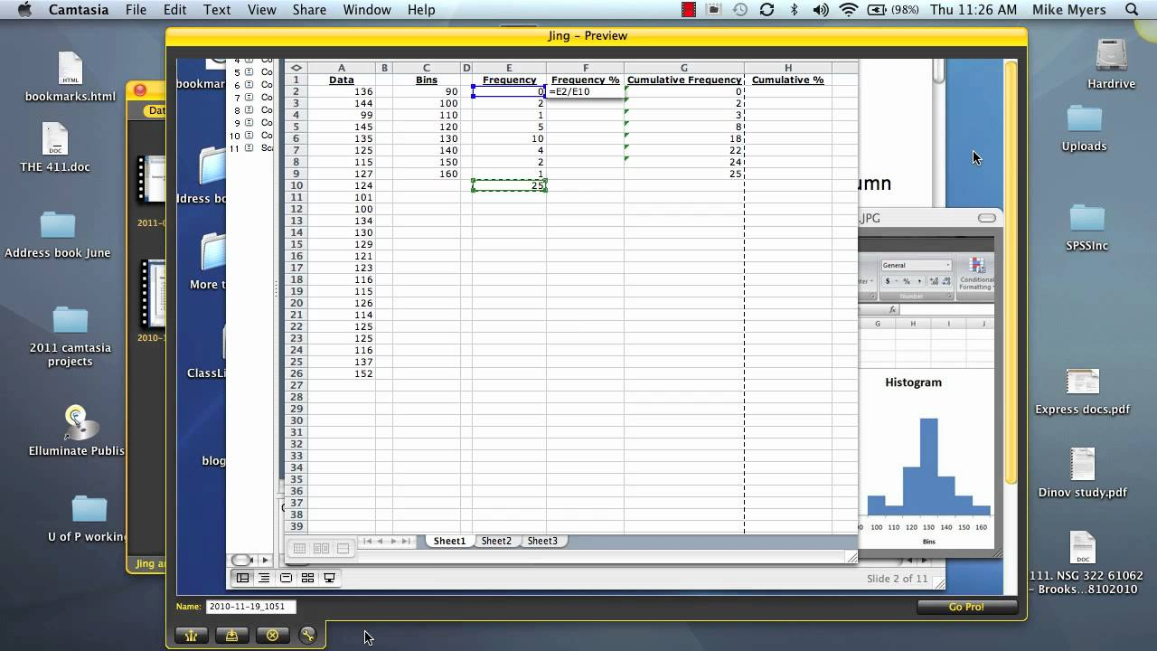how to make a frequency distribution table in excel 2010