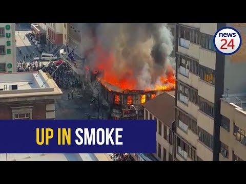 WATCH: Fire destroys building in Johannesburg CBD