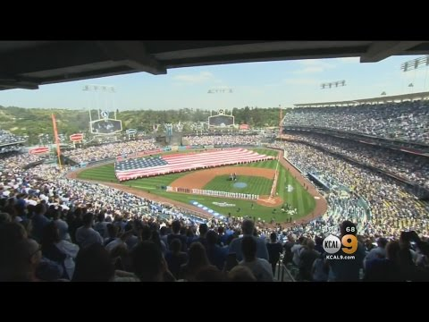 Fans Celebrate 56th Opening Day At Dodger Stadium