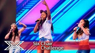 Skarl3t battle it out with Jessie J's Bang Bang! | Six Chair Challenge | The X Factor 2016