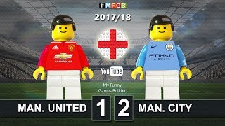 Manchester United - Manchester City 1-2 • Parody Derby Manchester (10/12/2017) Goals Highlights Lego