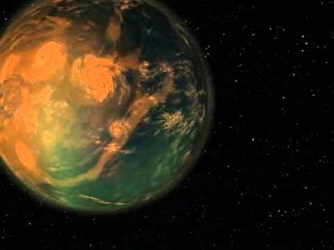 Gliese 581g Nibiru type world exoplanet  simulation