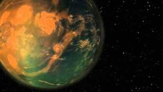 Gliese 581g Nibiru type world exoplanet  simulation