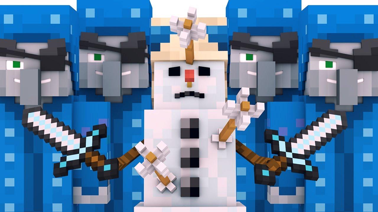 Villager vs Pillager Life Winter War 7 - Alien Being Minecraft Animation