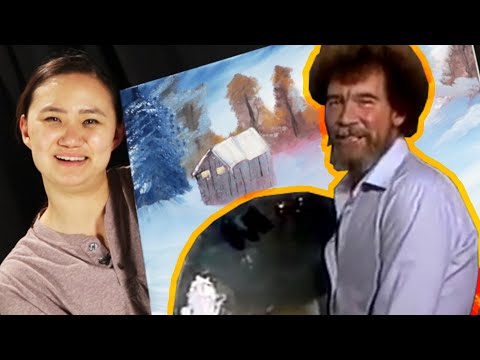 Thumbnail: Beginner Painters Try To Paint Like Bob Ross