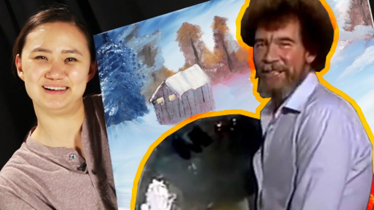 Beginner Painters Try To Paint Like Bob Ross Youtube
