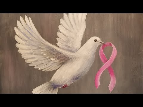 DOVE with Pink Ribbon LIVE Acrylic Painting Tutorial