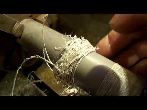 Секрет обработки  вязких и мягких материалов на токарном станке