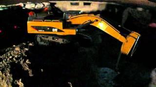 MAN 8x8 de ScaleArt con la CAT 345D de Wedico