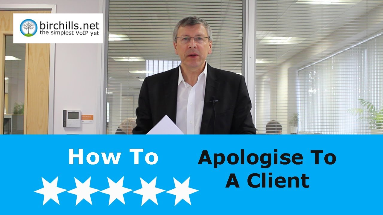 How To Apologise To A Client For Your Mistake