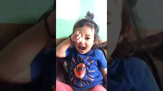 Nepali cute Baby Talking With Her dady