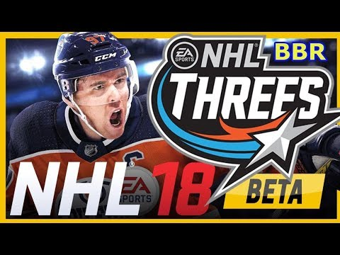 Kids HocKey EA Sports NHL 18 Beta Threes 3 on 3 Buffalo Sabres v Central All Stars