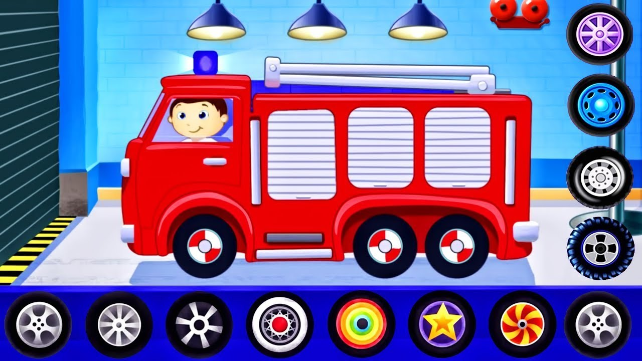 #мультики про машинки для детей 🚒 Пожарная машина ...