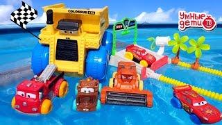 МАШИНКИ В БАССЕЙНЕ ГОНОЧНАЯ ТРАССА Маквин и машинки Тачки Cars Pool for kids