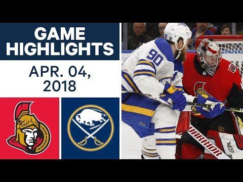 NHL Game Highlights   Senators vs. Sabres - Apr. 04, 2018
