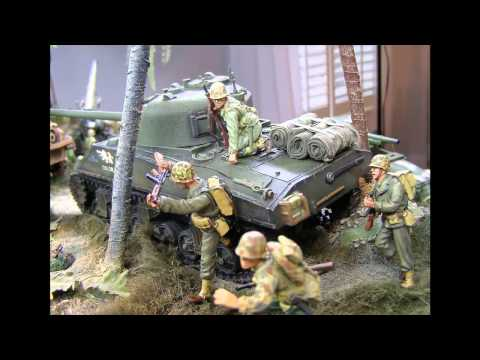 """Military Miniatures - WWII - USMC, """"The Pacific"""" Video"""