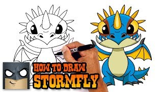 How to Draw Stormfly | How to Train your Dragon