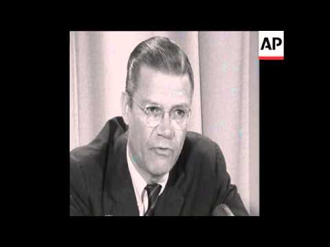 SYND 30/11/67 ROBERT MCNAMARA RESIGNS AS DEFENCE SECRETARY
